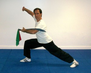 Instructor Mark demonstrating broad sword form