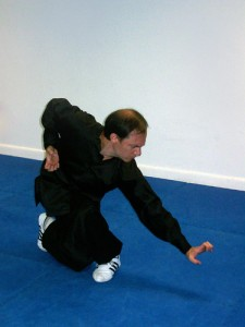 Instructor Mark demonstrates Eagle form
